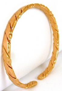 K: Light Copper Flattened Rope Bracelet